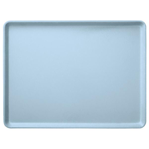 "Carlisle 1520LFG013 Customizable 15"" x 20"" Glasteel Ice Blue Dietary Fiberglass Tray - 12/Case"