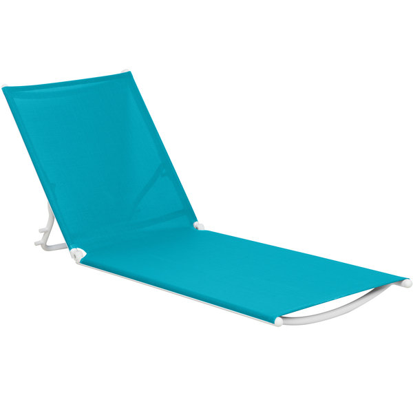 Grosfillex US673241 Turquoise Replacement Sling for Calypso Stacking Adjustable Resin Chaises in White
