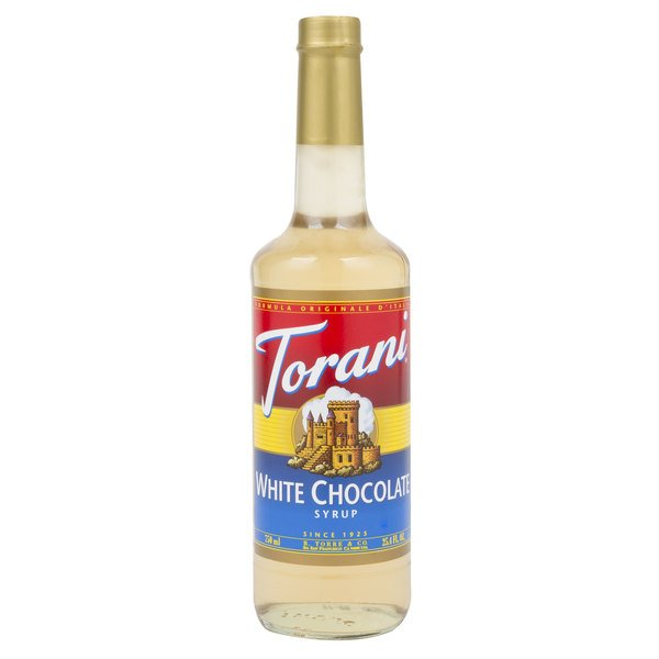 Torani 750 mL White Chocolate Flavoring Syrup