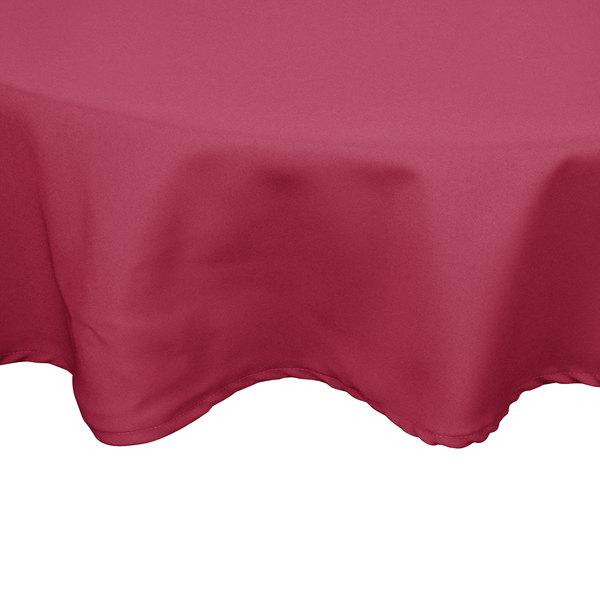 "54"" Mauve Round Hemmed Polyspun Cloth Table Cover"