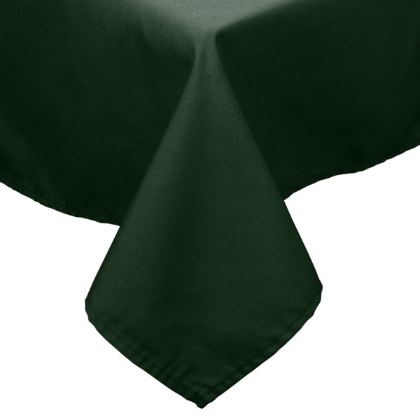 "45"" x 54"" Forest Green 100% Polyester Hemmed Cloth Table Cover"
