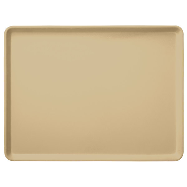 "Carlisle 1520LFG025 Customizable 15"" x 20"" Glasteel Beige Dietary Fiberglass Tray - 12/Case"