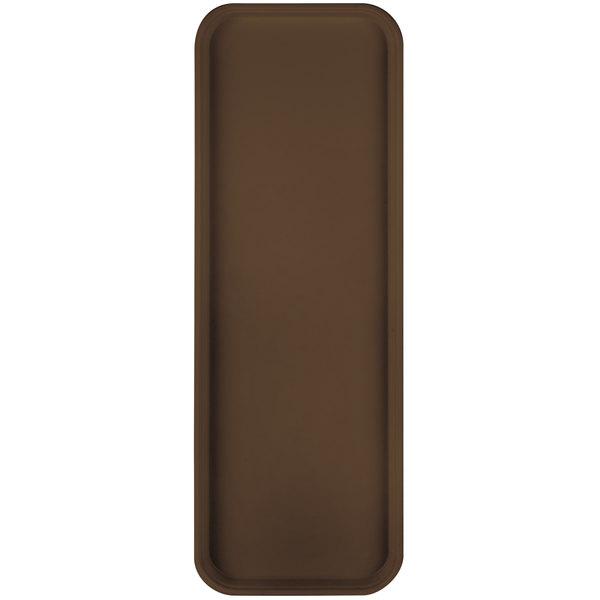 "Carlisle 269FG127 Customizable Chocolate 9"" x 26"" Glasteel Display / Bakery Fiberglass Tray - 12/Case"