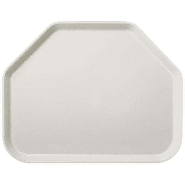 "Carlisle 2214FG001 Customizable14"" x 22"" Glasteel Bone White Trapezoid Fiberglass Tray - 12/Case"