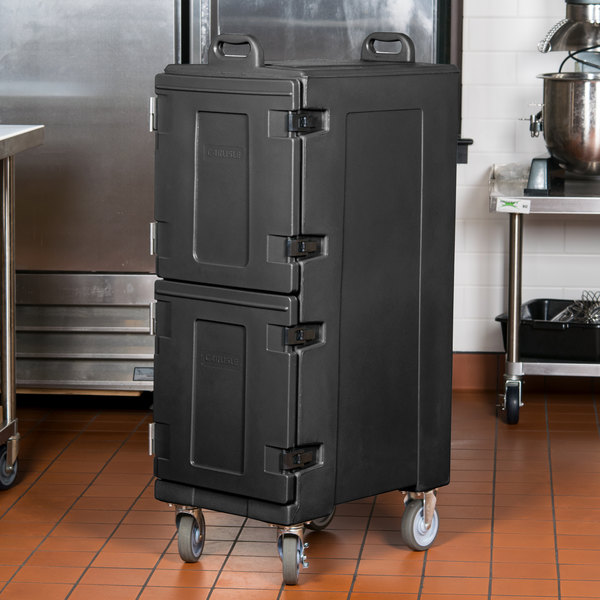 "Carlisle PC600N03 25"" x 17"" x 50"" Black Insulated Food Pan Carrier"