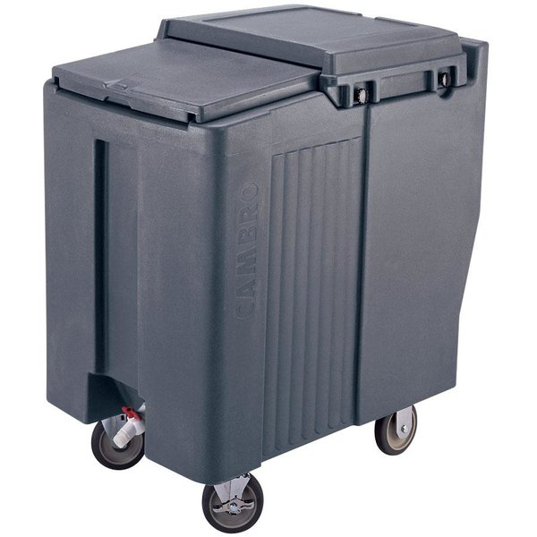 Cambro ICS175T401 SlidingLid™ Slate Blue Portable Ice Bin - 175 lb. Capacity Tall Model Main Image 1