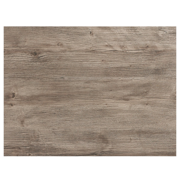 "Grosfillex 99530076 24"" x 32"" Aged Oak Rectangular Molded Melamine Outdoor Tabletop"