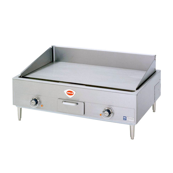 """Wells G-19 36"""" Electric Countertop Griddle - 400V, 12000W Main Image 1"""