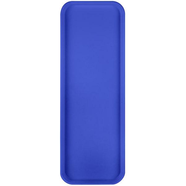 "Carlisle 269FG014 Customizable Cobalt Blue 9"" x 26"" Glasteel Display / Bakery Fiberglass Tray - 12/Case"