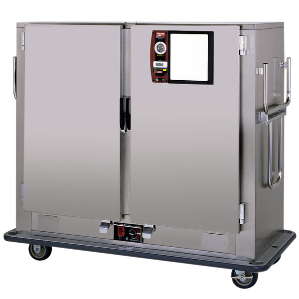 Metro MBQ-150D-QH Insulated Heated Banquet Cabinet Two Door With Quad-Heat System Holds up to 150 Plates 120V Main Image 1