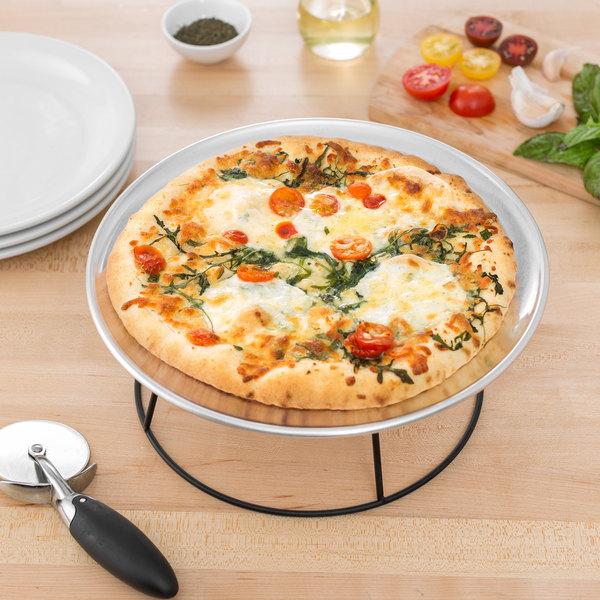"11"" Wide Rim Aluminum Pizza Tray"