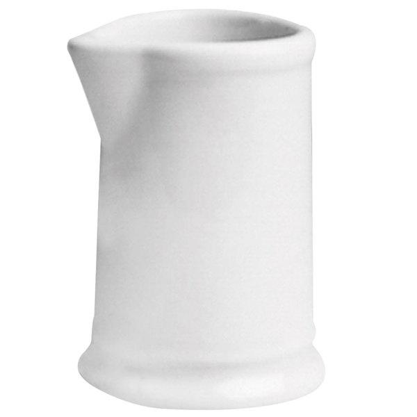 Hall China 8040AWHA 1.5 oz. Ivory (American White) China Creamer - 72/Case