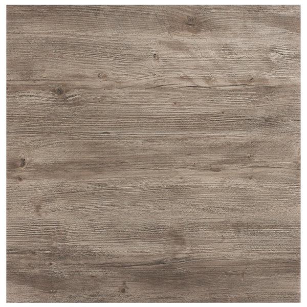 "Grosfillex 99841176 32"" x 32"" Aged Oak Square Molded Melamine Tabletop"
