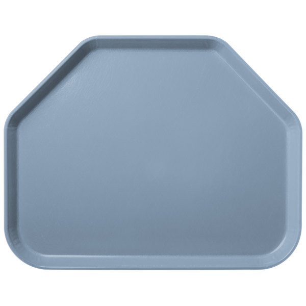 "Carlisle 2214FG012 Customizable 14"" x 22"" Glasteel Sea Spray Trapezoid Fiberglass Tray - 12/Case"