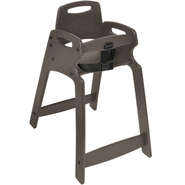 Koala Kare KB833-01-KD Light Gray Unassembled Recycled Plastic High Chair