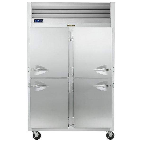 Traulsen G20006P 2 Section Solid Half Door Pass-Through Refrigerator - Right / Left Hinged Doors Main Image 1