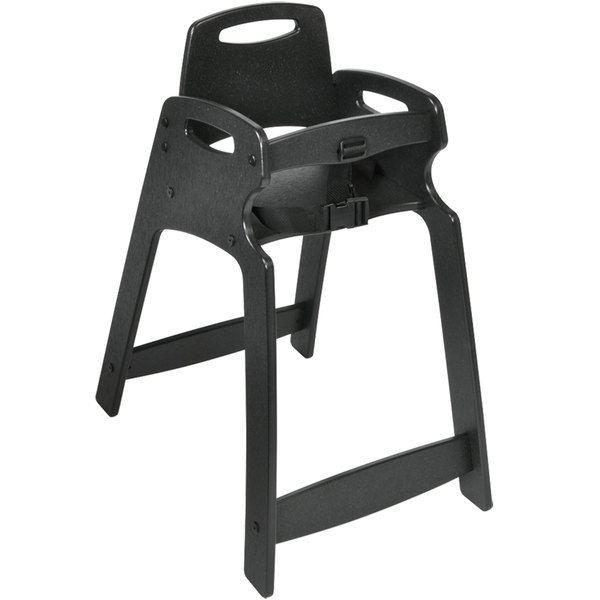 Koala Kare KB833-02-KD Black Ready to Assemble Recycled Plastic High Chair