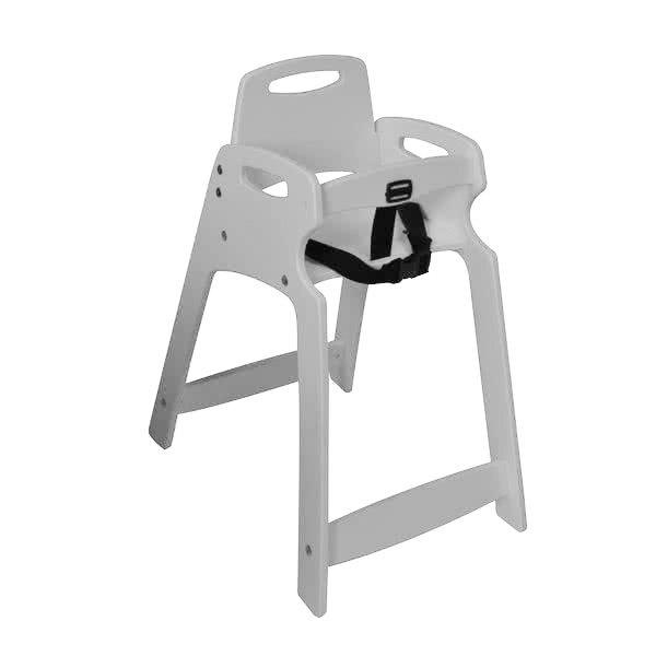 Koala Kare KB833-01 Light Gray Assembled Recycled Plastic High Chair