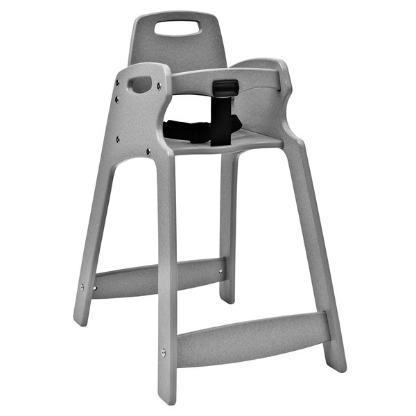 Koala Kare KB833-01 Light Gray Assembled Recycled Plastic High Chair Main Image 1