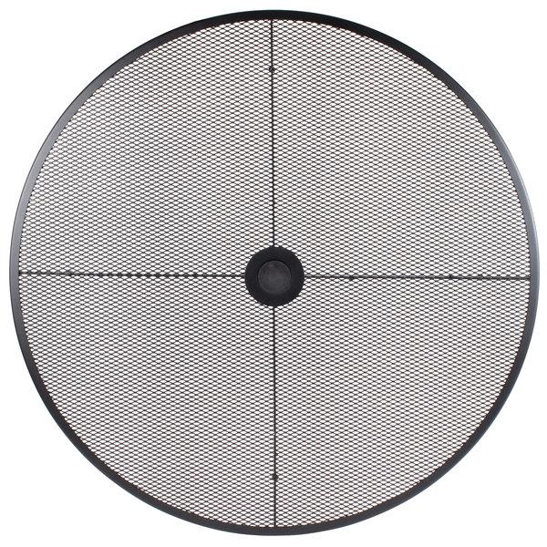 "BFM Seating SU36RBL Barnegat 36"" Round Black Steel Outdoor / Indoor Tabletop"