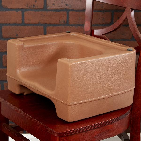 Carlisle 711006 Beige Plastic Booster Seat - Dual Seat