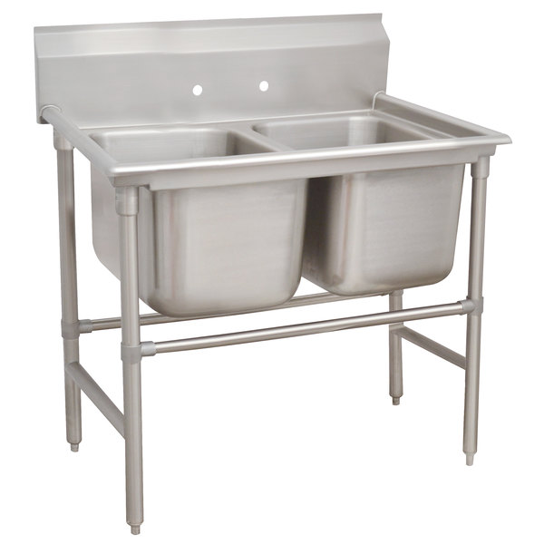 Advance Tabco 94-22-40 Spec-Line Two Compartment Pot Sink - 52""