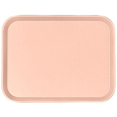 "Cambro 1418FF106 14"" x 18"" Light Peach Customizable Fast Food Tray - 12/Case"