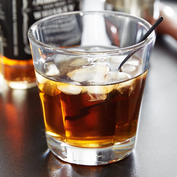 Anchor Hocking 90253 Clarisse 12 oz. Stackable Double Rocks / Old Fashioned Glass - 24/Case Main Image 3