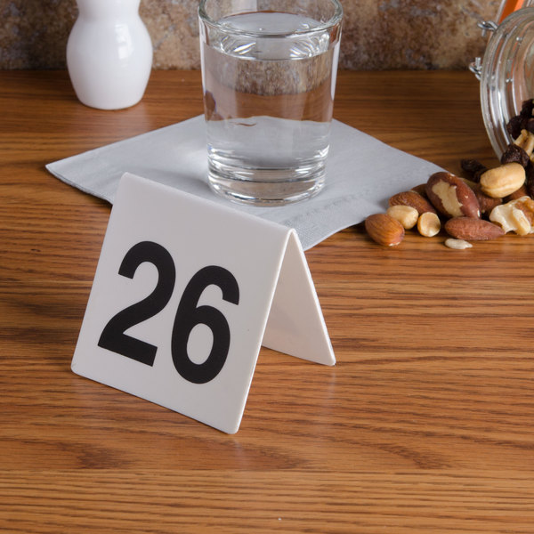 GET NUM-26-50 Numbers 26 Through 50 Table Tent Number Main Image 7