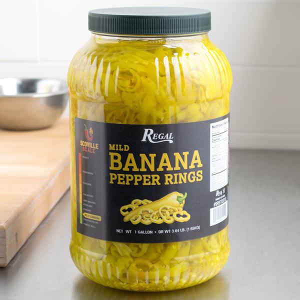 Regal Foods Mild Banana Pepper Rings 1 Gallon - 4/Case