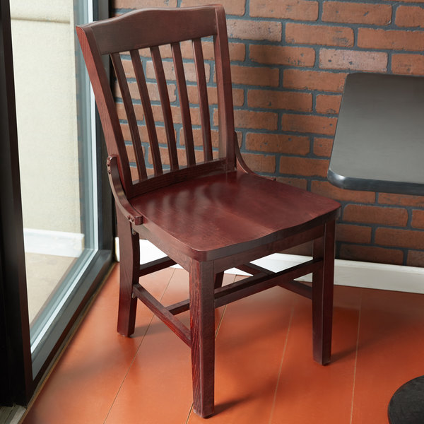 lancaster table seating mahogany finish wooden school house chair