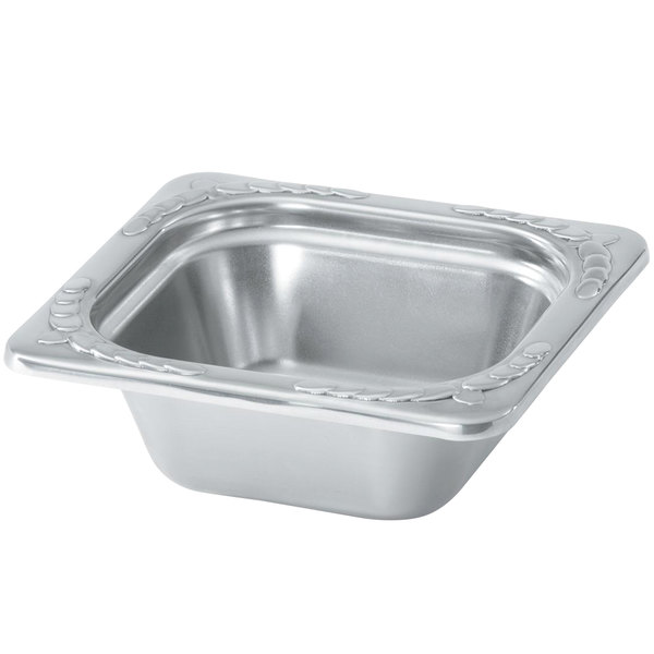 "Vollrath 8262220 Miramar 1/6 Size Satin Finish Decorative Food Pan - 2 1/2"" Deep"