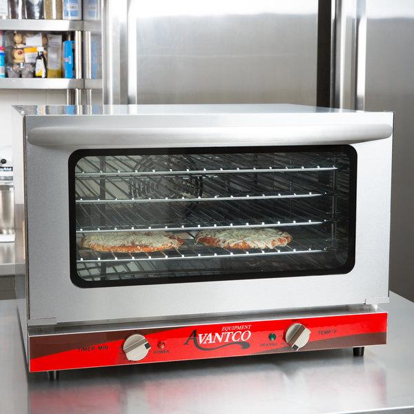 Avantco CO-16 Half Size Countertop Convection Oven, 1.5 Cu. Ft. - 120V, 1600W Main Image 4