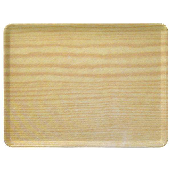 "Carlisle 1418LWFG065 Customizable 14"" x 18"" Glasteel Wood Grain Light Oak Dietary Fiberglass Tray - 12/Case"