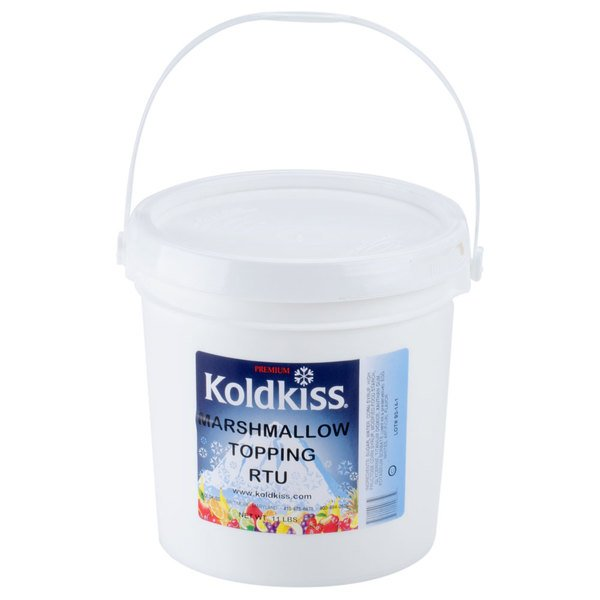 Koldkiss Marshmallow 11 lb. Ready to Use Snowball Topping - 2/Case Main Image 1