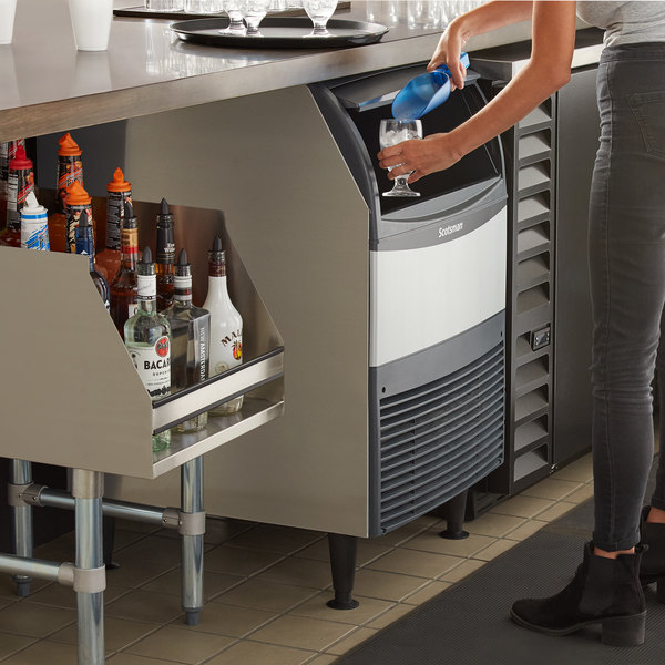 """Scotsman AFE424A-1 24 1/4"""" Air Cooled Undercounter Flake Ice Machine - 395 lb."""