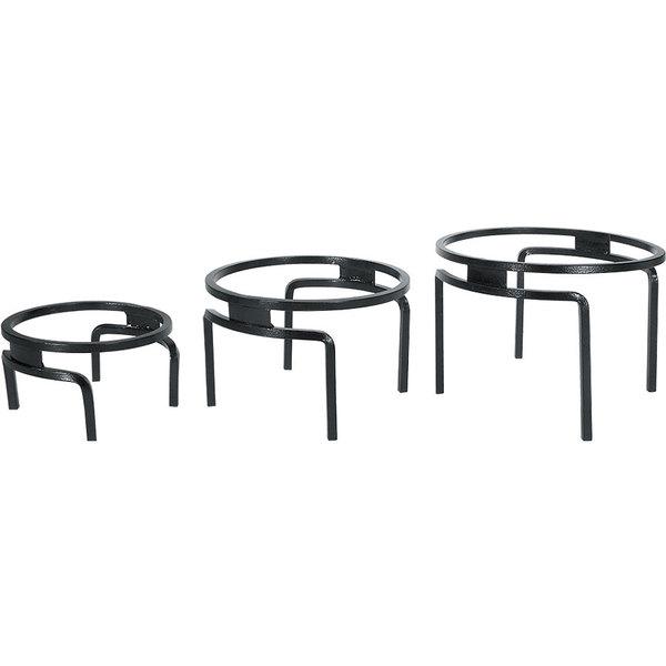 Cal-Mil MR1300-13 3 Piece Black Metal Ring Riser Set