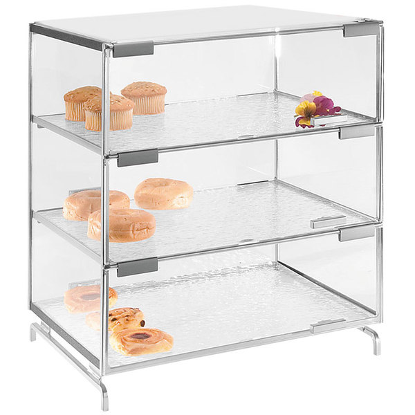 "Cal-Mil PC300-39 Three Tier Platinum Pastry Display Case - 16"" x 23"" x 20"""