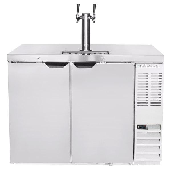 beverage air dd48hc 1 s double tap kegerator beer dispenser stainless steel 2 12 keg capacity - Beverage Air Kegerator