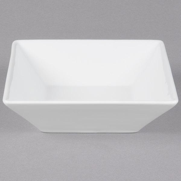 "Cal-Mil PP250 Deep Square Porcelain Bowl - 7"" x 7"" x 3"""