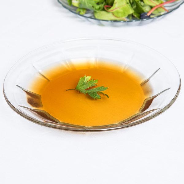 "Libbey 15412 Gibraltar 8"" Glass Soup / Deep Salad Plate - 36/Case"