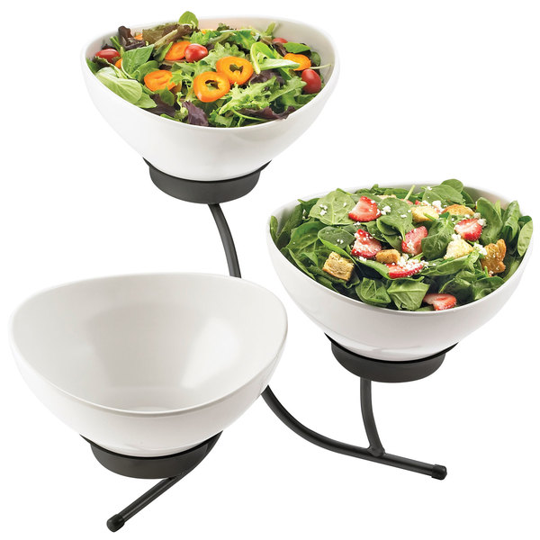 cal mil sr701 13 black three tier incline resting bowl display with