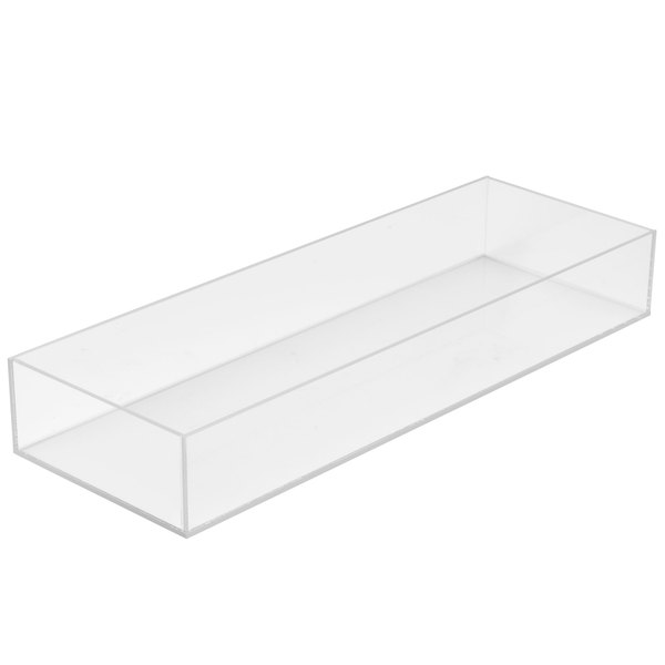 """Cal-Mil 1397-12 Cater Choice Clear Acrylic Accessory Bowl - 7"""" x 20"""" x 3"""" Main Image 1"""