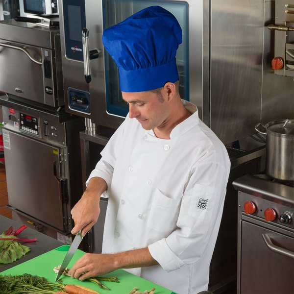 "Choice 13"" Royal Blue Chef Hat Main Image 4"