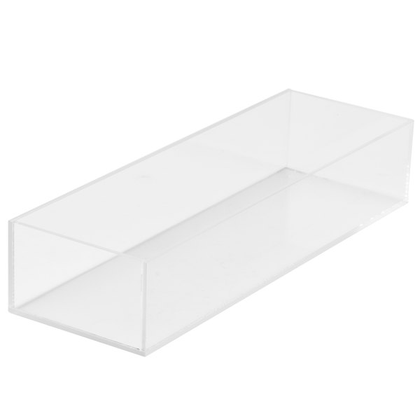 "Cal-Mil 1396-12 Cater Choice Clear Acrylic Accessory Bowl - 5"" x 15"" x 3"" Main Image 1"