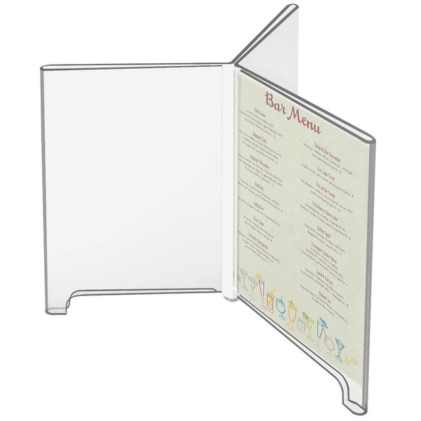 """Cal-Mil 576 Classic 4"""" x 6"""" 3-Wing Footed Acrylic Displayette"""