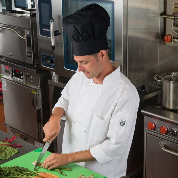"Choice 13"" Black Chef Hat Main Image 4"