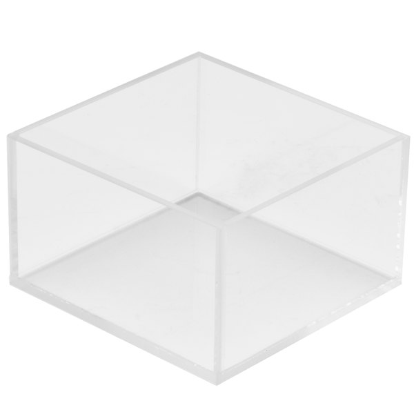 """Cal-Mil 1395-12 Cater Choice Clear Acrylic Square Accessory Bowl - 5"""" x 5"""" x 3"""""""