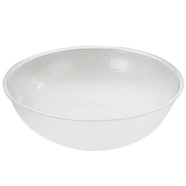 "Cal-Mil 401-15-34 15"" Clear Acrylic Pebble Salad Bowl Main Image 1"