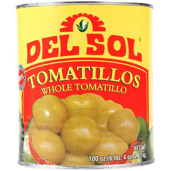 Del Sol #10 Can Whole Tomatillos - 6/Case